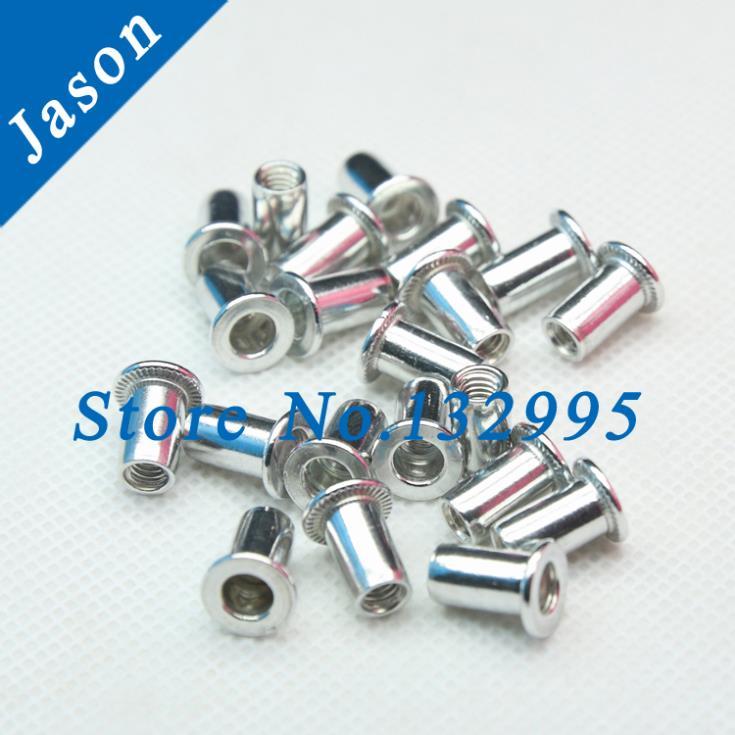 M6*100pcs  Rivet Nut   Flat  head Aluminum Rivet Nut  Insert Nut PEM<br><br>Aliexpress