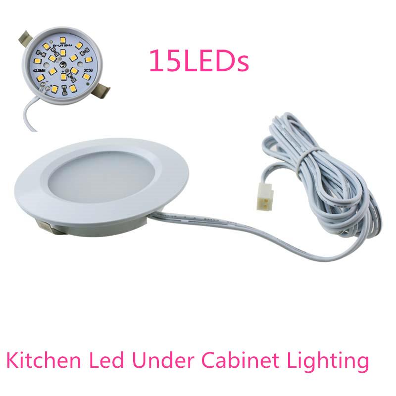 1pcs Home Kitchen Led Under Cabinet Lighting 15LEDs 3528 Energy Saving Lights Lamp Bulb 110-240V showcases bookcase wall lamp(China (Mainland))