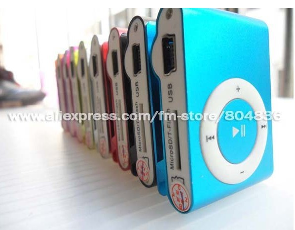 clip mp3 music player with card slot mini mp3 player 8 colors  & Free Shipping(China (Mainland))
