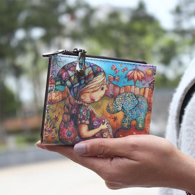 2016 новинка мультфильм кошелек марки , предназначенные короткие женщины молния женский ...