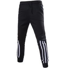 new arrivals fashion drawstring men legging sports running pants sweatpants trousers 3 color M L XL XXL DY249
