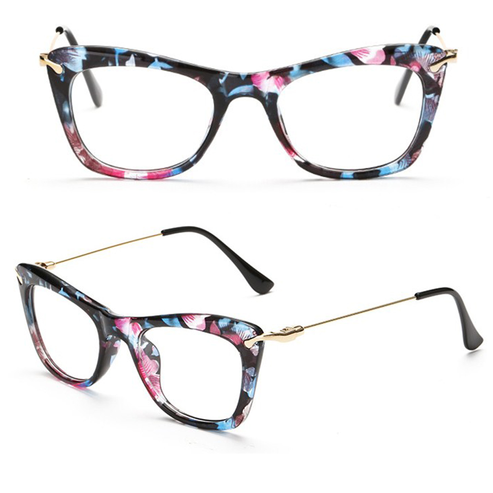 CAT EYE 5 COLORS Fashion lady womens GLASSES FRAME CUSTOM ...