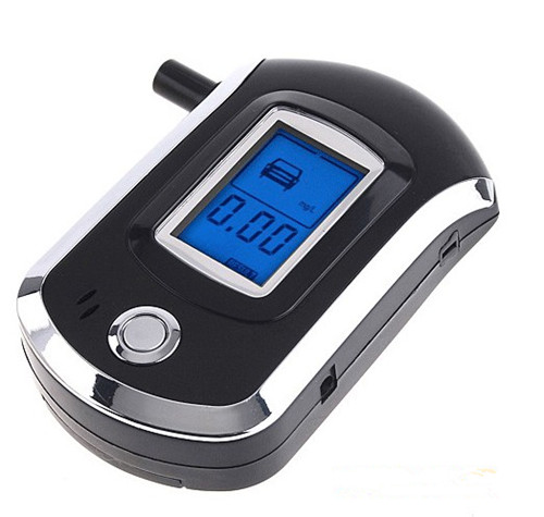 Digital Alcohol Breathalyzer Breath Tester LCD Breathalizer Tester Device Machine(Hong Kong)