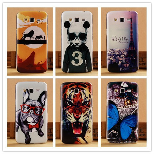 Luxury 3D painting Hard Case For Samsung Galaxy Grand 2 Duos G7102 G7106 Cover Back Cases PY(China (Mainland))