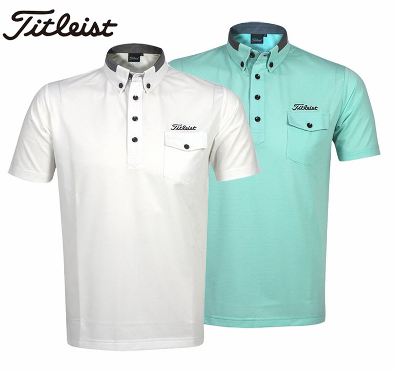 2016 new titliest golf GOLF Shirt Short Sleeved men's clothing summer sweat absorption and fast dry