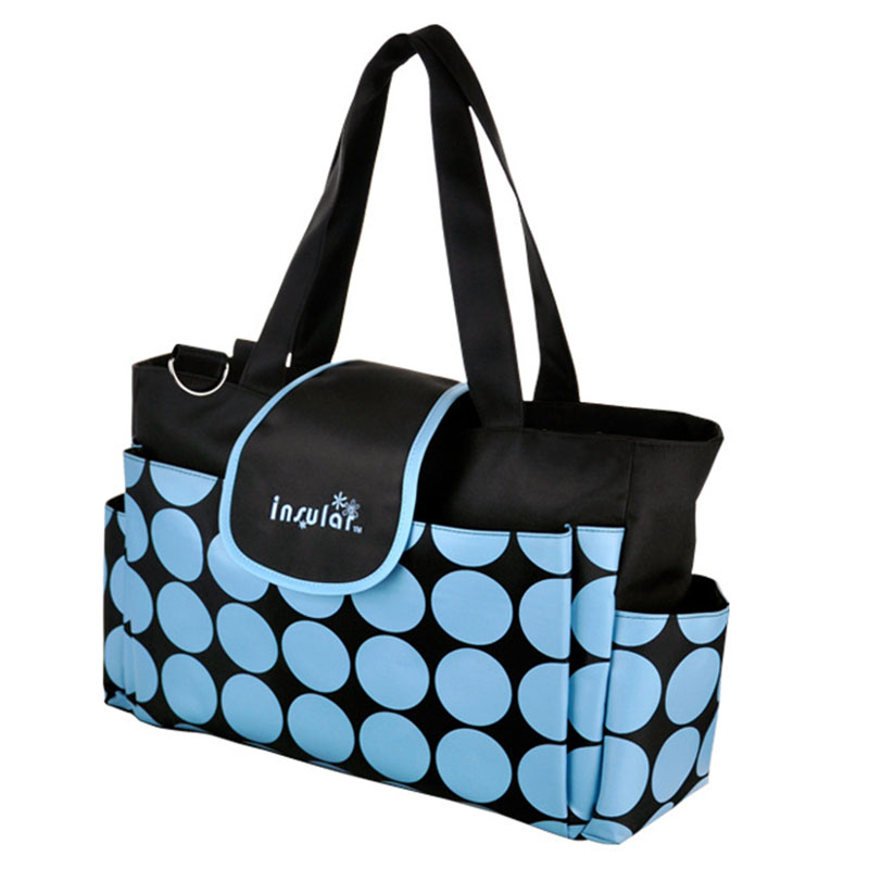Retro Dot Mummy Diaper Bag Large Capacity Shoulder Bag For Mother font b Baby b font