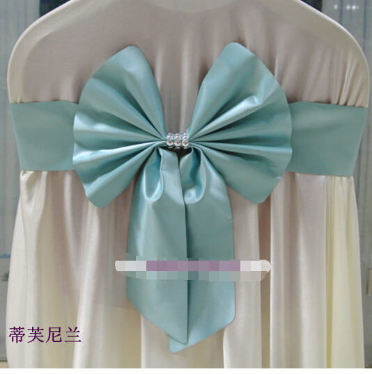 Pin wedding props. Avoid bow tie back of the chair. The chair decorative ribbon(China (Mainland))