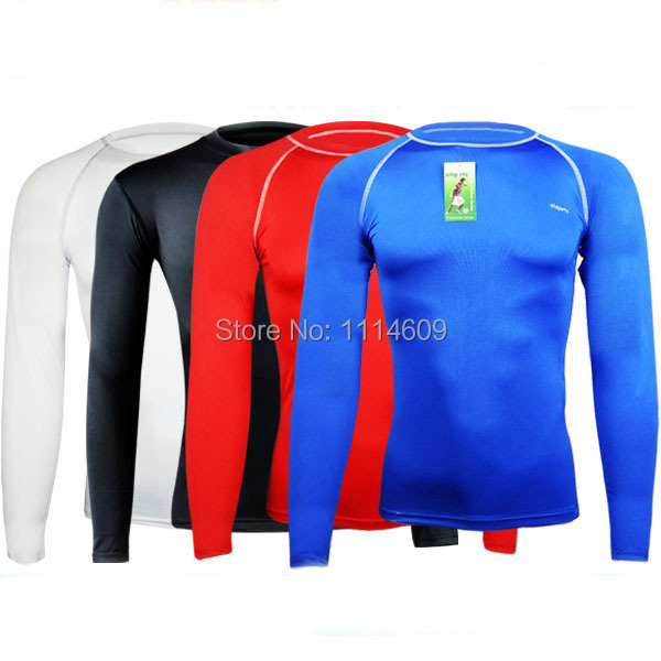 Sports Running Football Soccer Training Cycling wear Compression Under Shirts Tights Base Layers Tops Tees Skin Gear Slim Fit(China (Mainland))