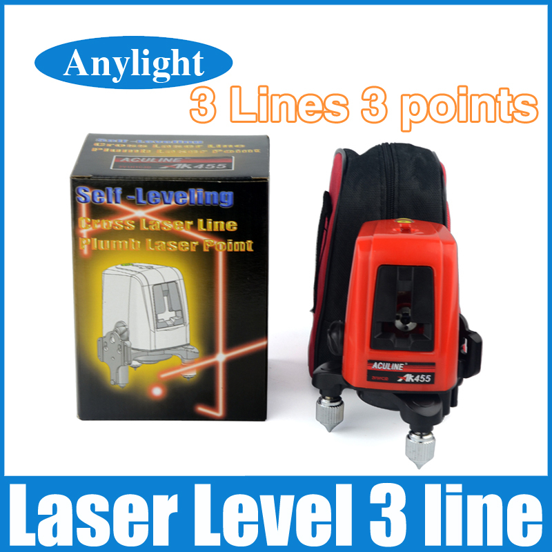 laser level 3 line 3 point 360 degree rotary laser AK455 Horizontal and Vertical Lazer cross levels WAL12<br><br>Aliexpress
