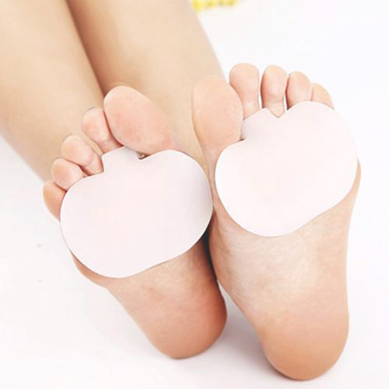 2 Pair Foot Care Silicone Foot Massage Insoles Forefoot Pain Relief Massaging Gel Metatarsal Foot Support Pads Forefoot(China (Mainland))