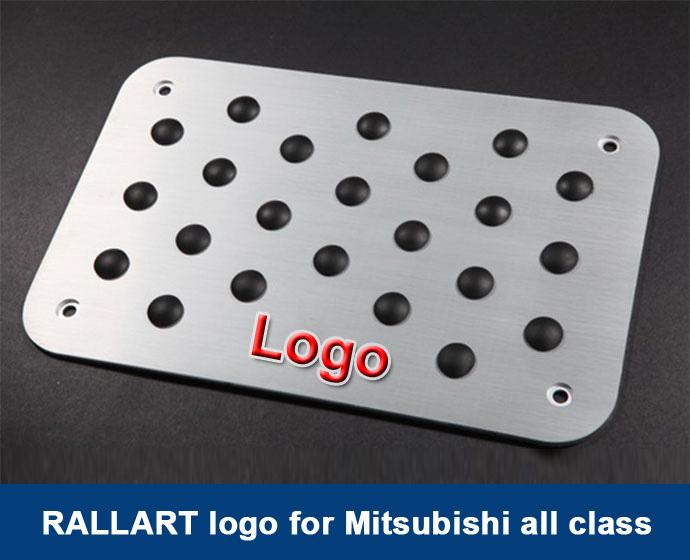 Custom made service:RALLI/// ///ART badge/Car accessories Pedals /auto Mats Carpet Pedal Pad Floor Mat For Mitsubishi Series(China (Mainland))