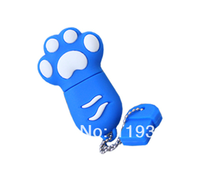 U38 Free shipping USB flash drive 4GB 8GB 16GB 32GB Cat paw Pendrive Cartoon memory stick Pen drive(China (Mainland))
