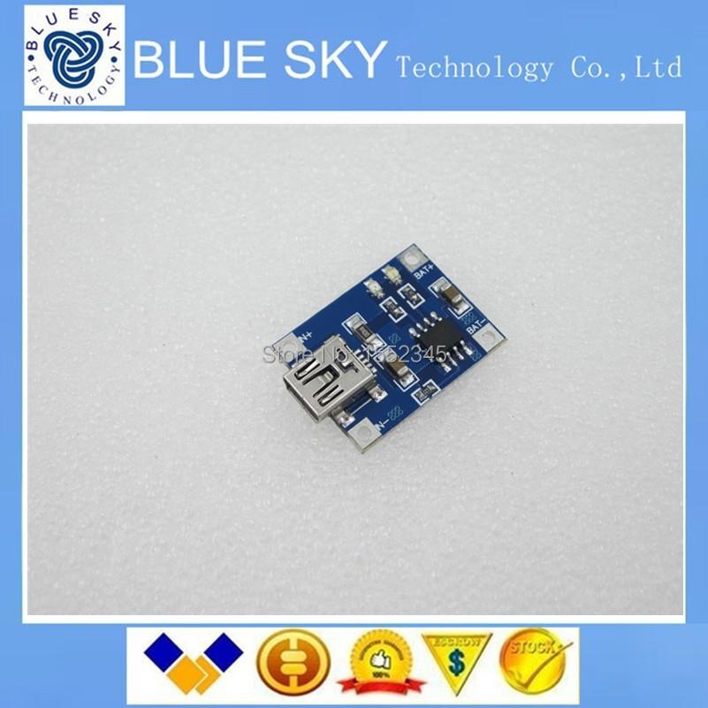 new 5pcs Lithium Battery Charger Module Board mini 5v USB 1A li-ion Battery charger TP4056 18650 DIY(China (Mainland))