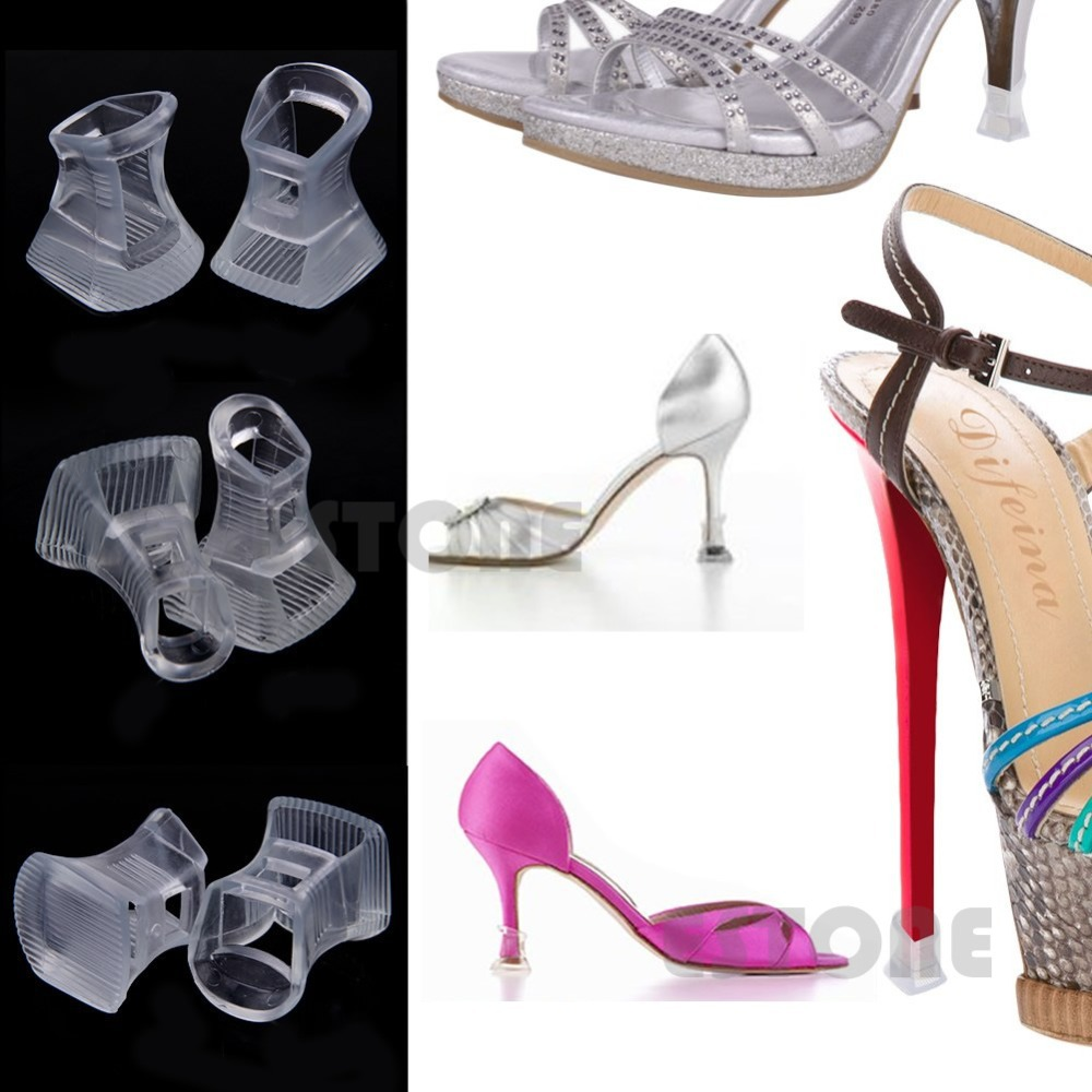 E74 Free Shipping Footful 1 Pair Durable Stiletto High Heel Protector Covers Shoes Stoppers S/M/L(China (Mainland))