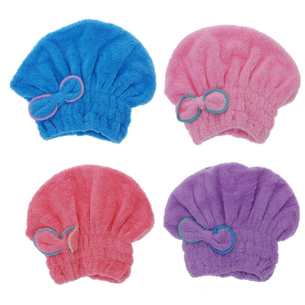 Home Textile Useful Dry Hair Hat Microfiber Hair Turban Quickly Dry Hair Hat Wrapped Towel Bathing Cap(China (Mainland))