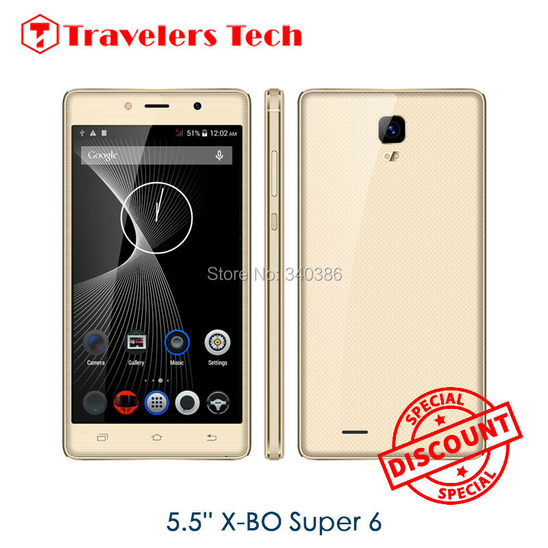 X-BO Super 6 Metal Frame Phones Original 5.5Inch Touch Screen Mobile Phone Big 512MB RAM 8GB ROM Battery Mobile Phone PK O1 V6(China (Mainland))