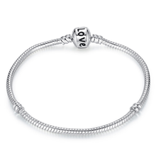 New 2016 Fashion Women's Jewelry Antique Silver Charm Beads Fit Pandora Bracelet With Heart Key Charms Beads For Girls Love Gift(China (Mainland))