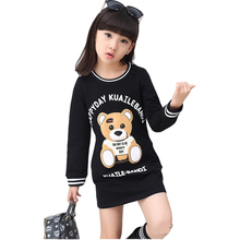 Children T-shirt Summer Cotton Tops Girls Cartoon Bear Girls T-shirt Tops Long Sleeve Kids T-shirts For Girls Kids Clothes 287C
