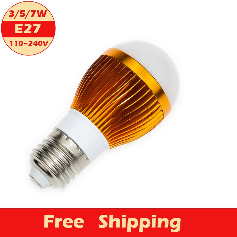 1pcs E27 LED Bubble Ball Bulb 3/5/7W 110V- 220V LED Lamp High Light,Room Store Company Advertising Decoration Beautify(China (Mainland))