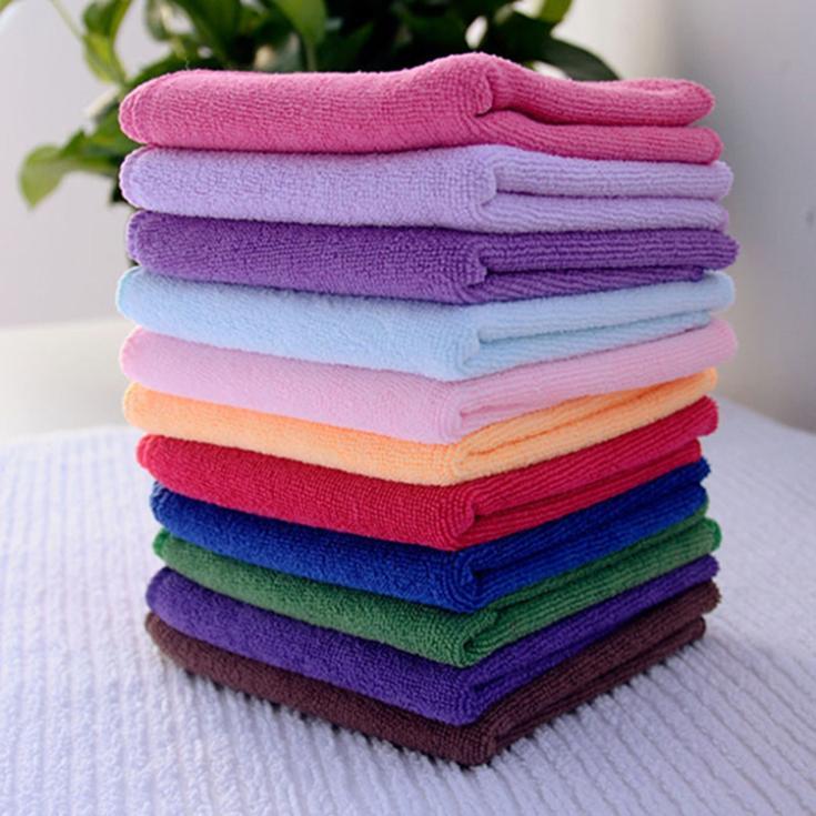 2015 Cheap 10pcs Microfiber Towel Car Cleaning Wash Clean Cloth Car 24.5x23.5cm Towels Microfiber Care Care Hand Towel(China (Mainland))