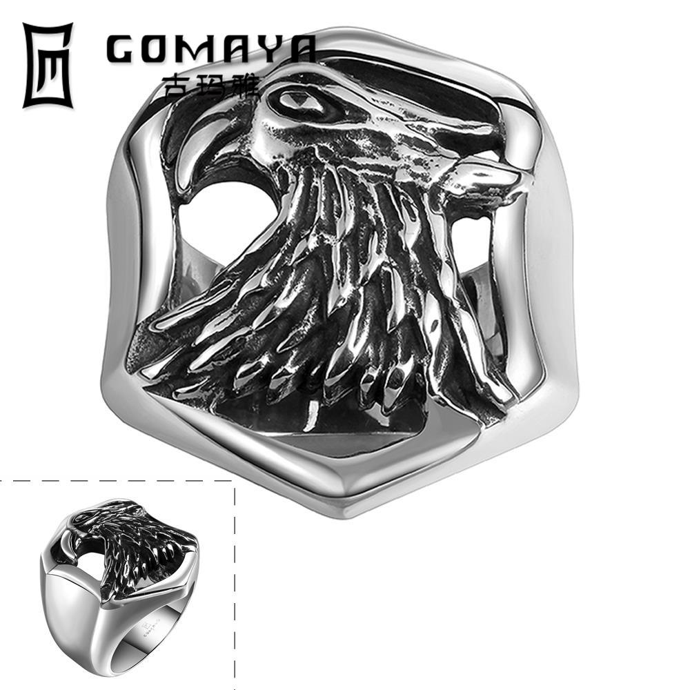 2016 Cool Personality Game Ancient Jewelry Stainless Punk Eagle Head Ring Python Cosplay Men Rings Cubic Zirconina Rings(China (Mainland))