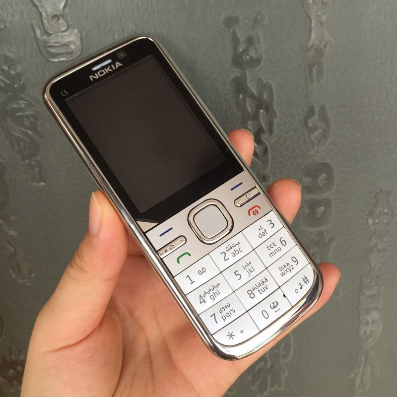 Refurbished Original NOKIA C5 00 Mobile Phone Unlocked C5 Phone English Hebrew Arabic Russian Keyboard & One year warranty(China (Mainland))