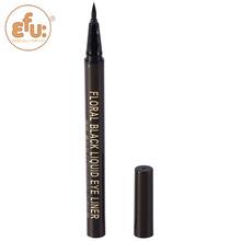 1Pcs Hot selling EFU Floral Black eye liner Cosmetics Makeup Not Dizzy Waterproof Liquid Eyeliner Pencil