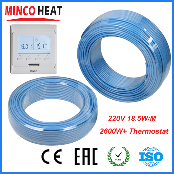 230V Single Conductor Underfloor Heating Cable 2600W + Programmable Thermostat<br><br>Aliexpress
