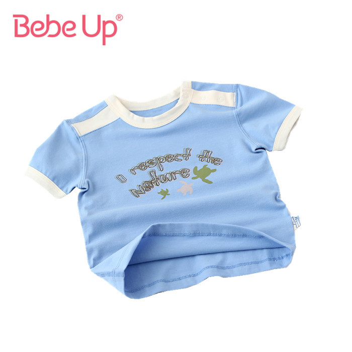 Baby Boys Casual T-shirts New Summer 2016 Kids Toddler Short Sleeve Tops Childrens Clothing Brand Retail High Quality(China (Mainland))