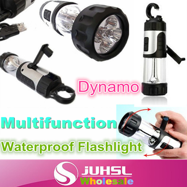 Dynamo LED flashlight,camping tent light,manual spontaneous charging home emergency lights,outdoor multifunctional,rain,Torches(China (Mainland))