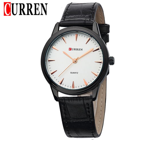 Curren Men Watch Black Genuine Leather Ultrathin Quartz Wristwatch Hours Casual Dress Watches Hodinky Man Relojes Mujer - A&I store