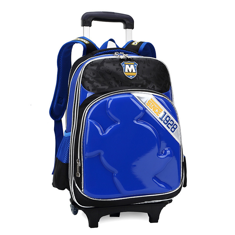 Children School Wheeled Bags with Wheels Child Trolley Girls School Backpack Kids Mochila Escolar for Primary Student Bolsas