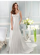 Vestidos De Novia 2016 New Arrival Dress Elegant Applique Wedding Dresses Chiffon Beach Bridal Gowns