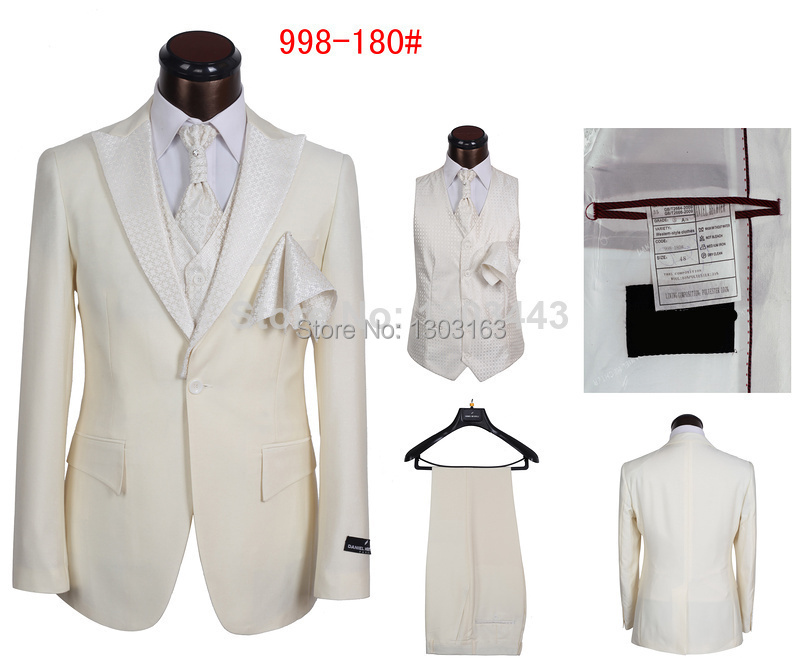 Hot Selling Mens Brand Suits New Stylish 5 Piece Formal Suits Designer Dress Tuxedo Suits For Men SIZE S-5XL New 2014(China (Mainland))