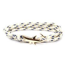 18 צבעים אופציונלי מכירה לוהטת ויקינג צמידי עבור גברים ונשים כסף כריש רב שכבתי חבל צמיד Homme Femme תכשיטי גברים(China)