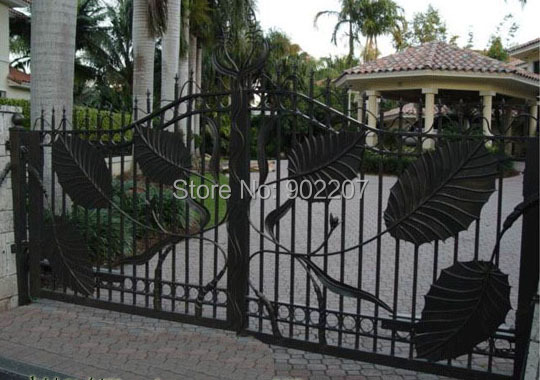 Luxury wrought iron gate design manufacturer(China (Mainland))
