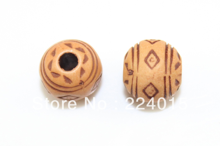 Wholesale 300pcs Acrylic Round Imitation Natural Wood Print Classical Beads For Necklace / Bracelet DIY,7.5mm,JB125!(China (Mainland))