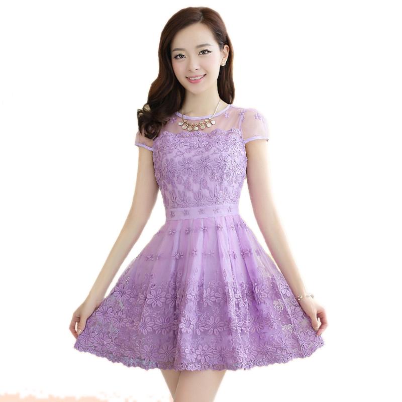 2015 new high quality purple summer dress organza chiffon for Purple summer dresses for weddings