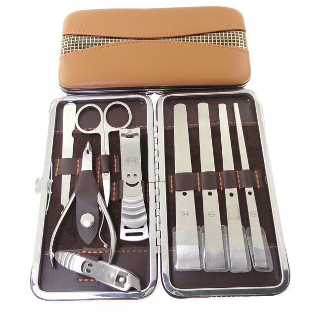 9 pcs Manicure Set Manicure Pedicure Set Nail Clippers Scissors Grooming Tool Wholesale Professional 02E5 2TMW(China (Mainland))