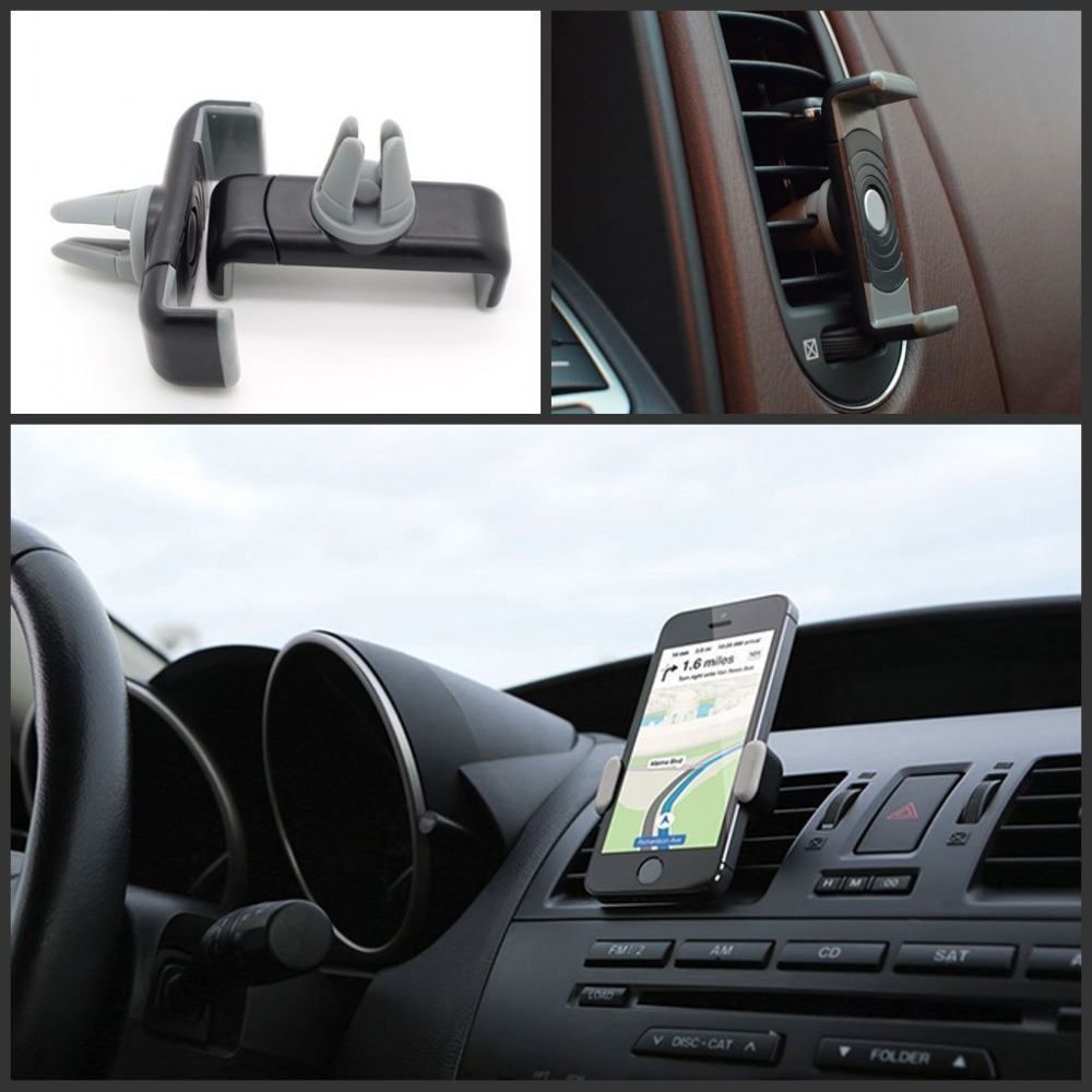 Car Air Vent Mount Stand Holder Universal 6 Inch Phone Stand Holder For iphone 4 5 6 plus for samsung Car Mobile Phone Holder(China (Mainland))