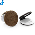 Girl Portable Hand Mirror Circular Comb Airbag Folding Mirror With Comb Pocket Cosmetic Mirrors 2HT24