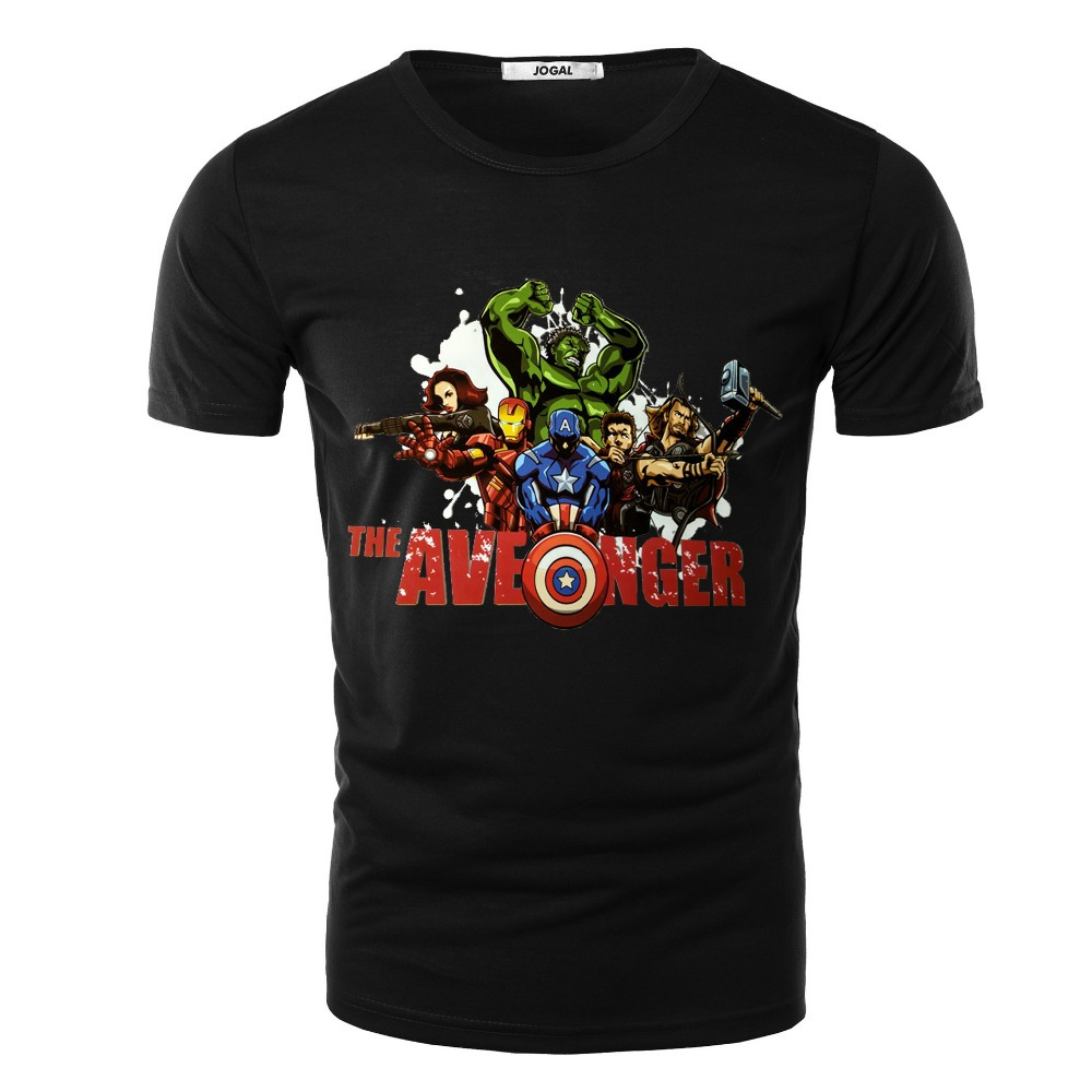 new 2015 summer style avengers print short sleeved cotton. Black Bedroom Furniture Sets. Home Design Ideas