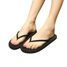 Mint Polka Dot Women Fashion Summer Flat Flip Flops Sandals Loafers Bohemia Shoes Jun21(China (Mainland))