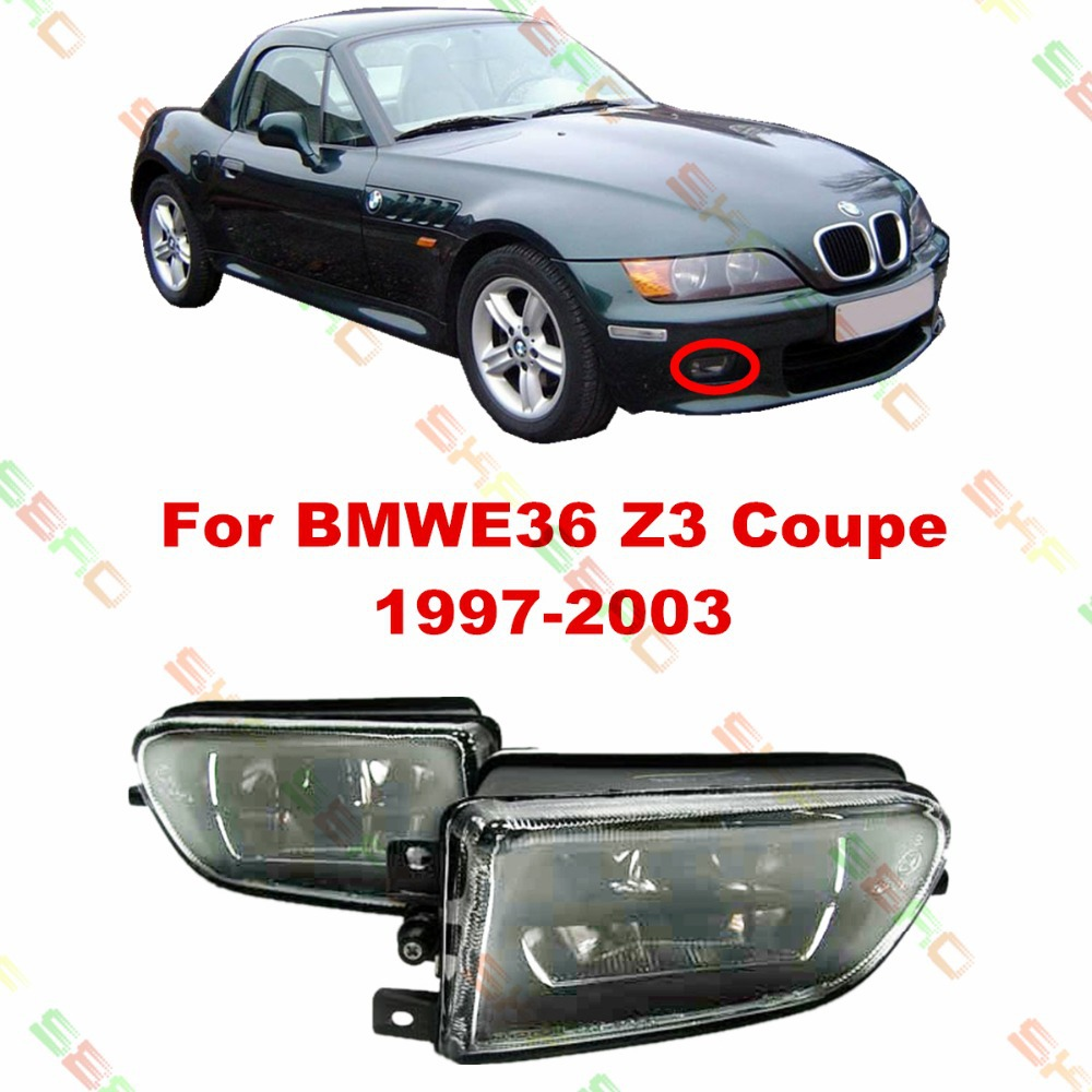 Car styling Fog Lamps For BMW E36 Z3 Coupe  1997/98/99/2000/01/02/03   1 SET  Crystal glass<br><br>Aliexpress
