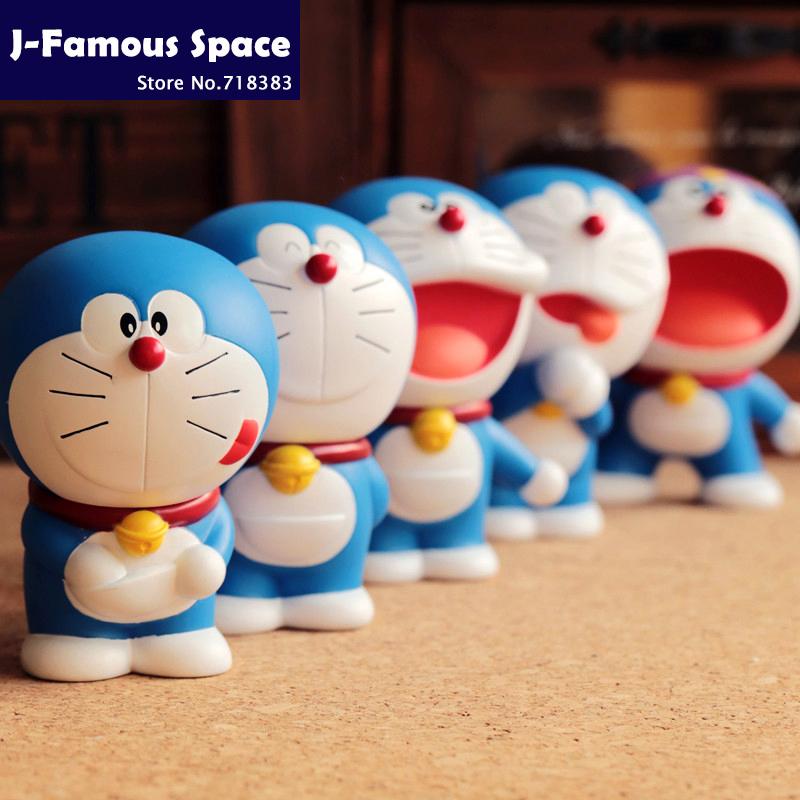 Japanese animation brinquedos Cat Doraemon Cute funny car decorations anime action figure kids toys Cartoon Doraemon Dolls Gifts(China (Mainland))