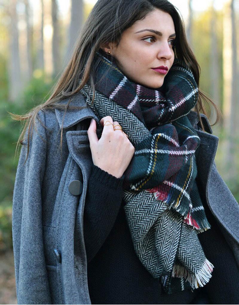cachecol feminino desigual scarf fashion luxury brand scarf women 2015 striped high quality imitation cashmere shawl and scarvesОдежда и ак�е��уары<br><br><br>Aliexpress