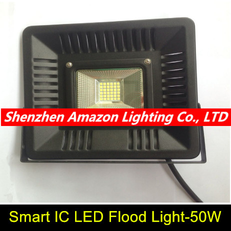 New Arrival LED FloodLight 30W 50W 220V IP65 Waterproof Smart IC LED Flood Light Spotlight Outdoor Wall Lamp Garden Projectors(China (Mainland))