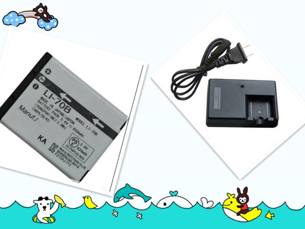 Batteries LI-70B LI 70B LI70B Rechargeable Lithium Camera Battery Pack+battery charger for Olympus FE-4040 X-940 Free Shipping(China (Mainland))