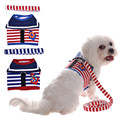 New Style Adjustable Navy Soft Dog Puppy Breathable Harness Mesh Vest Harnesses for Dogs Cat Collar