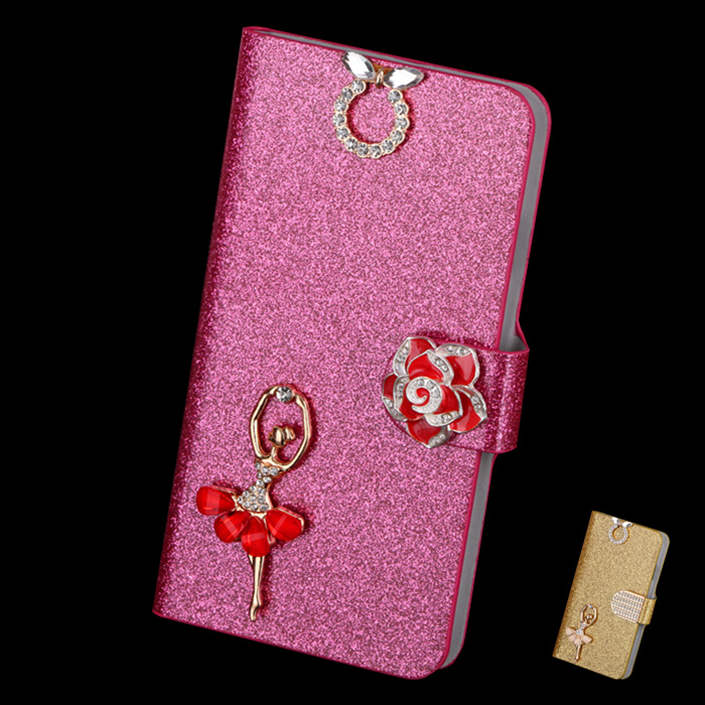 2015 Luxury Glitter Leather Case For Aplle Ipod Touch 5 Cover Original Flip Bling Phone Bag For Ipod Touch5 Pouch Free Shipping(China (Mainland))